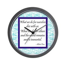 """""""What We Do for Others"""" Wall Clock"""