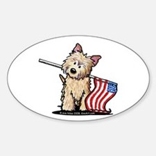 Patriotic Cairn Sticker (Oval 10 pk)