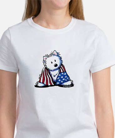 Patriotic Westie Women's T-Shirt