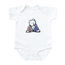 Patriotic Westie Infant Bodysuit