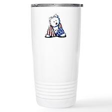 Patriotic Westie Travel Mug