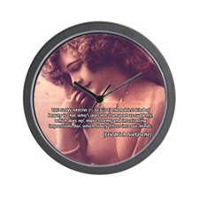 Sexuality, Beauty Nietzsche Wall Clock