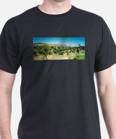Alice Springs Landscape Black T-Shirt