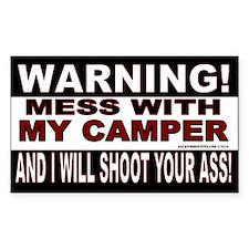 Warning Camper Decal