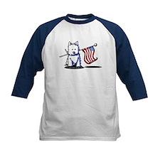 US Flag Westie Tee