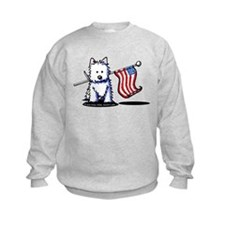 US Flag Westie Sweatshirt