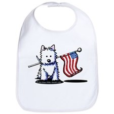 US Flag Westie Bib