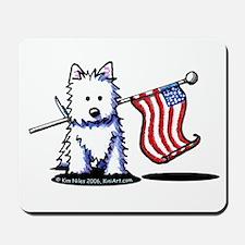 US Flag Westie Mousepad