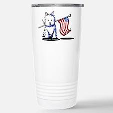 US Flag Westie Travel Mug