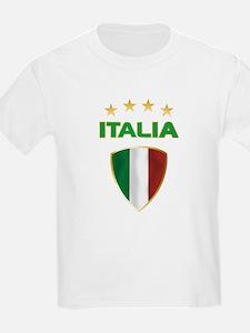 Soccer Crest ITALIA gold T-Shirt