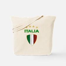 Soccer Crest ITALIA gold Tote Bag