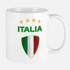 Soccer Crest ITALIA gold Mug