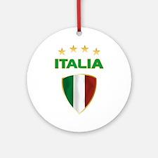 Soccer Crest ITALIA gold Ornament (Round)