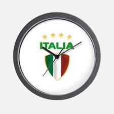 Soccer Crest ITALIA gold Wall Clock