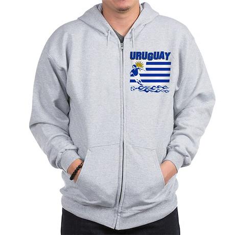 Uruguayan soccer Zip Hoodie