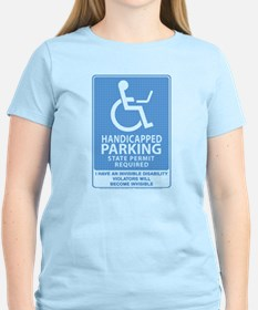 Women's Light Invisible Disability T-Shirt