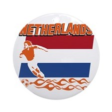 Dutch soccer Ornament (Round)