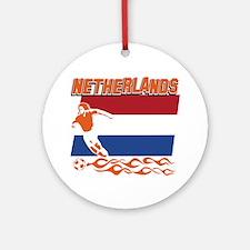 Dutch soccer Ornament (Round)