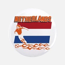 "Dutch soccer 3.5"" Button"