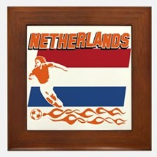 Dutch soccer Framed Tile
