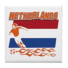 Dutch soccer Tile Coaster