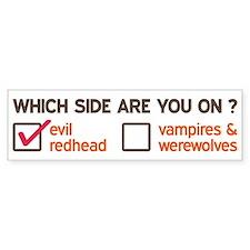 Evil Redhead Side Bumper Sticker