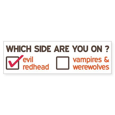 Evil Redhead Side Sticker (Bumper)