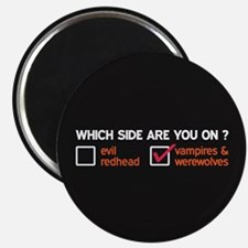 Vampires & Werewolves Side Magnet