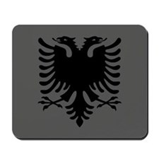 Albanian Eagle Gray & Black Mousepad