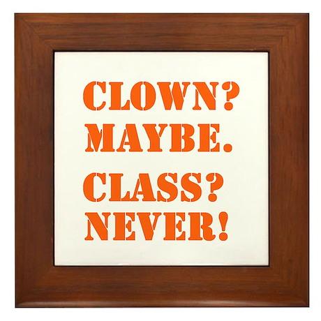 Clown? 5 Framed Tile