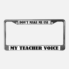 Funy Teaching Voice License Plate Frame