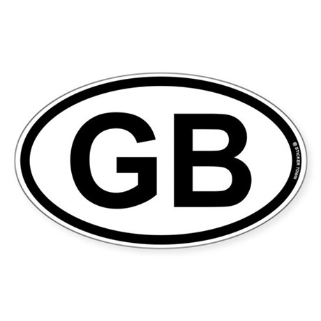 GB - Great Britian Sticker (Oval)