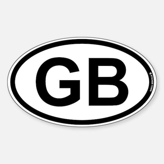 GB - Great Britian Sticker (Oval)