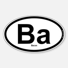 Ba - Bacon Sticker (Oval)