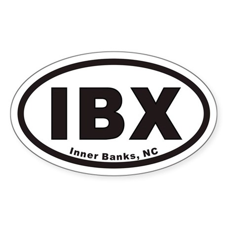 IBX Euro Oval Sticker