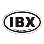 IBX Euro Oval Sticker