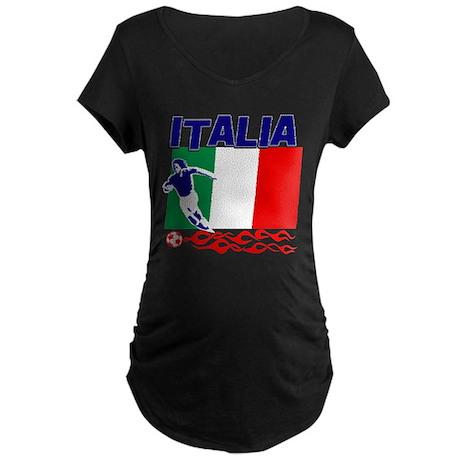 Italian soccer Maternity Dark T-Shirt