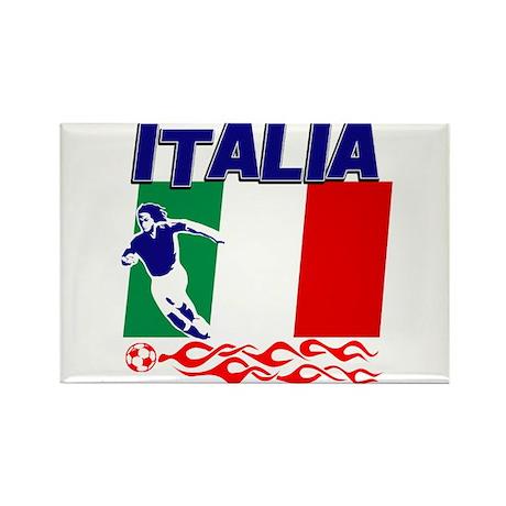 Italian soccer Rectangle Magnet (10 pack)