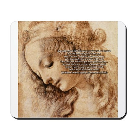 Da Vinci Art with Shakespeare Mousepad