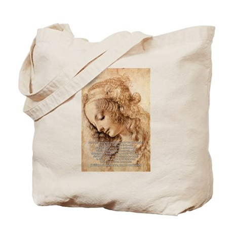 Da Vinci Art with Shakespeare Tote Bag