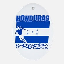 Honduran soccer Ornament (Oval)