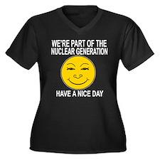Nuclear Generation Women's Plus Size V-Neck Dark T