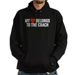 My Heart Belongs To The Coach Hoodie (dark)