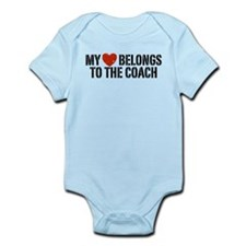 My Heart Belongs To The Coach Infant Bodysuit