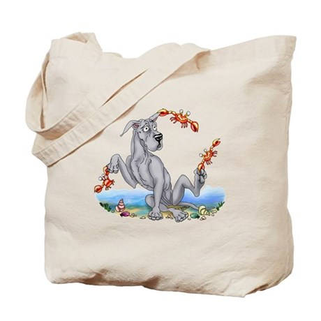 Great Dane Blue Crabby Tote Bag