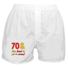 70th Birthday Best Yet To Come Boxer Shorts