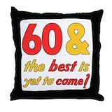 60th birthday for men Throw Pillows