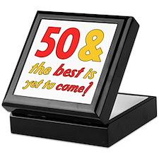 50th Birthday Best Yet To Come Keepsake Box