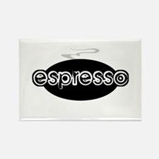 Espresso Steam Logo Rectangle Magnet