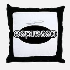 Espresso Steam Logo Throw Pillow